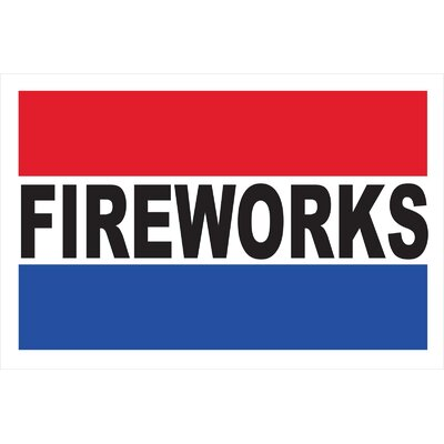 Fireworks Banner Size: 30 H x 72 W