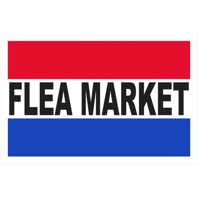 Flea Market Banner Size: 24 H x 36 W