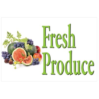 Produce Banner Size: 24 H x 36 W