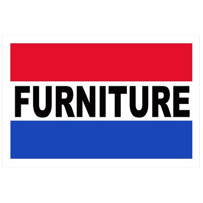 Furniture Banner Size: 24 H x 36 W