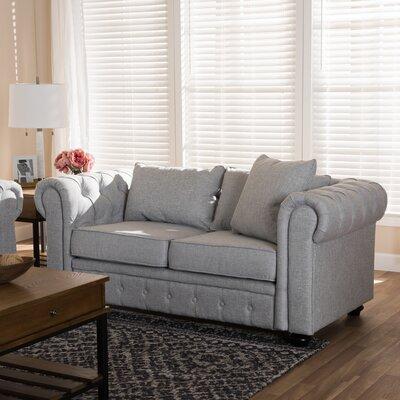Kayser Loveseat Upholstery: Gray