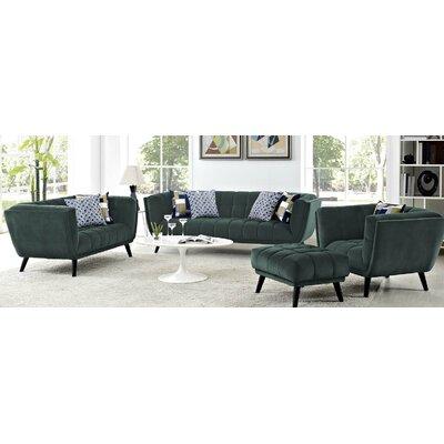 Seneca 3 Piece Living Room Set Color: Green