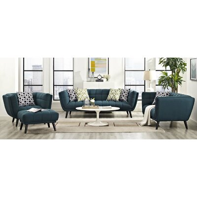 Seneca 3 Piece Living Room Set Color: Blue