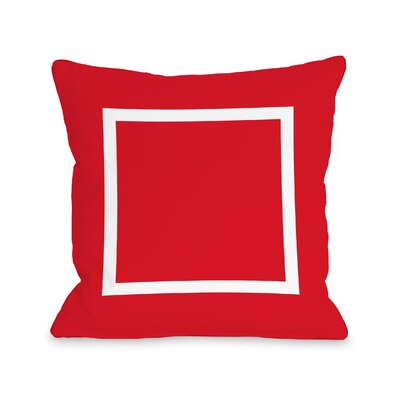 Duchene Open Box Outdoor Throw Pillow Color: Red, Size: 16 x 16