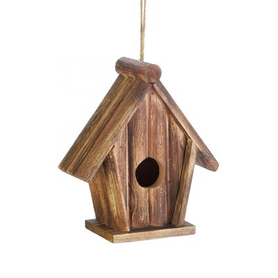 Classic Rustic Wood 8 in x 7 in x 3.5 in Birdhouse