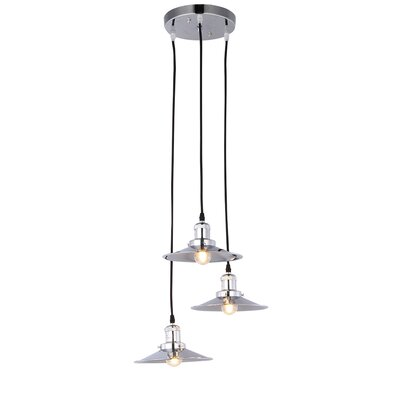 Vollmer Nickel 3-Light Cluster Pendant