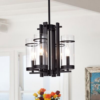 Radway Metal 4-Light Candle-Style Chandelier