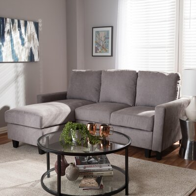 Iniguez Reversible Sectional Upholstery: Gray