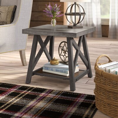 Silvis End Table Color: Gray