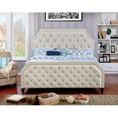 Leath Upholstered Panel Bed Size: California King