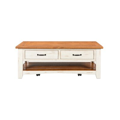 Hassinger Coffee Table Color: Antique White and Honey Tobacco