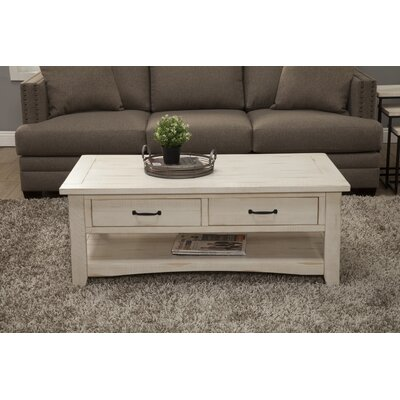 Hassinger Coffee Table Color: Antique White