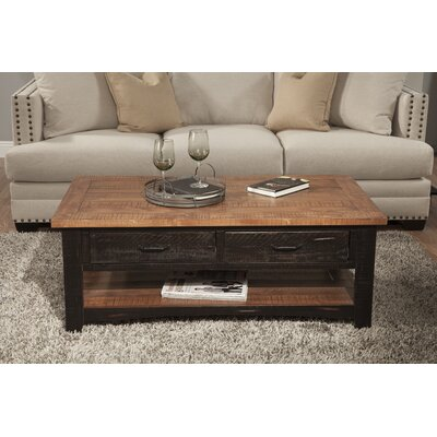 Hassinger Coffee Table Color: Antique Black and Honey Tobacco