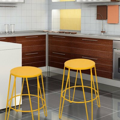 Lecuyer Metal 26 Bar Stool Color: Yellow