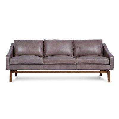 Coronet Leather Sofa Upholstery: Gray Haze