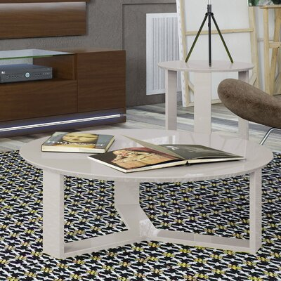 Madison Round Accent Coffee Table Color: Off White
