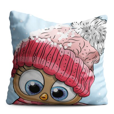 Bourdon Baby Chick with Winter Beret Throw Pillow