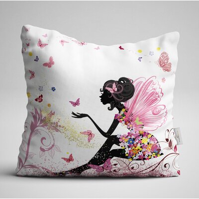 Hulme Shadow Women in Pink Jungle Throw Pillow