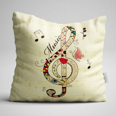Clayton Clef Sign Throw Pillow
