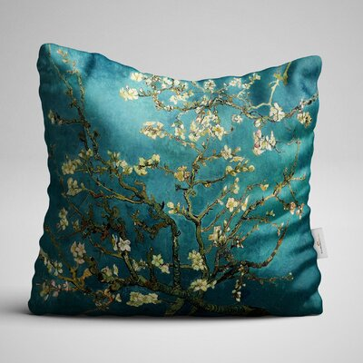 Avalon Bloomed Tree on the Oil Green Jungle Throw Pillow