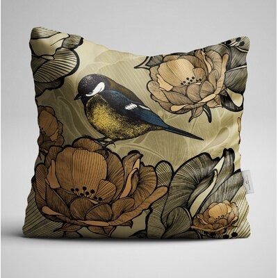 Clearwell Bird on the Flower Throw Pillow