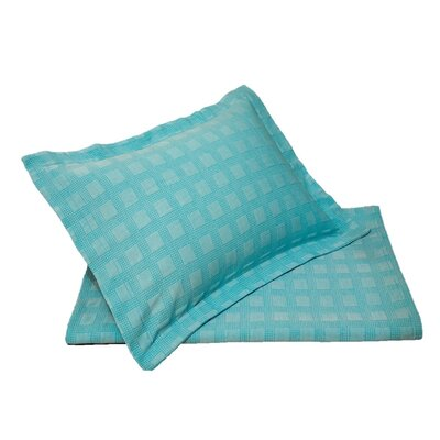DeBennett Sham Size: King, Color: Heather Blue Capri