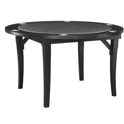 """48"""" Folding Poker Table FLDGTBL BLK"""