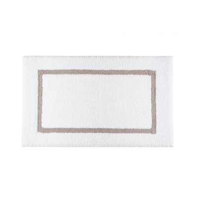 Lochinvar Double Tone Bath Rug Color: Stone