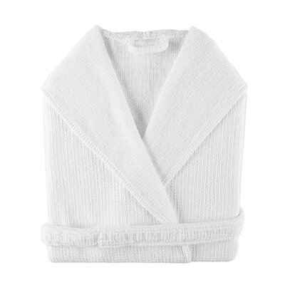 Gilmer Bathrobe Size: Medium, Color: White