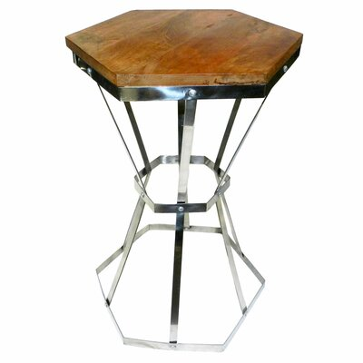 Reculver Steel and Wooden End Table