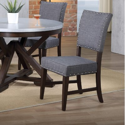 Duncan Dining Chair (Set of 2) Upholstery Color: Gray