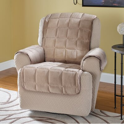 Burnham Protector T-Cushion Recliner Slipcover Upholstery: Cream