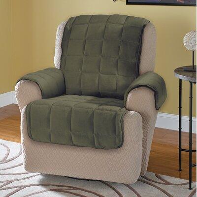 Burnham Protector T-Cushion Recliner Slipcover Upholstery: Olive