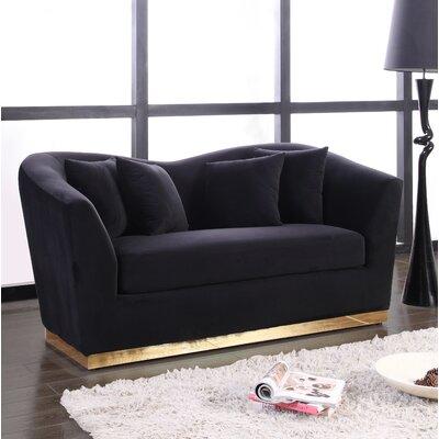 Truchanovicius Loveseat Upholstery: Black