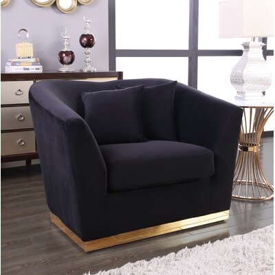 Truchanovicius Club Chair Upholstery: Black