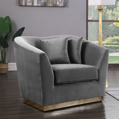Truchanovicius Club Chair Upholstery: Gray