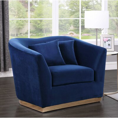 Truchanovicius Club Chair Upholstery: Navy