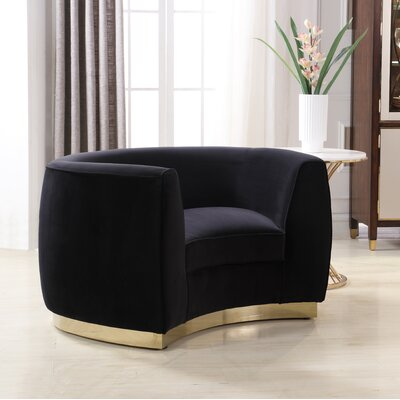 Antonsen Club Chair Upholstery: Black