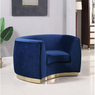 Antonsen Club Chair Upholstery: Navy