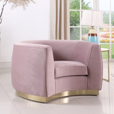 Antonsen Club Chair Upholstery: Pink