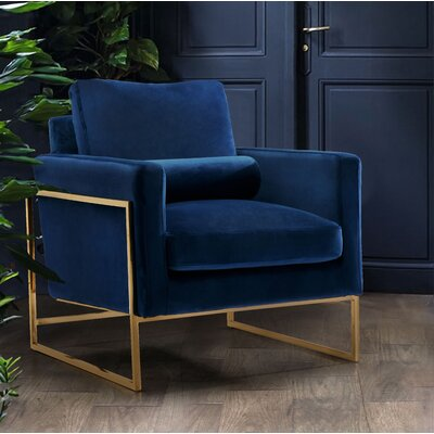 Ganley Club Chair Upholstery: Navy