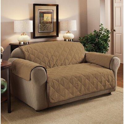 Box Cushion Sofa Slipcover Upholstery: Camel