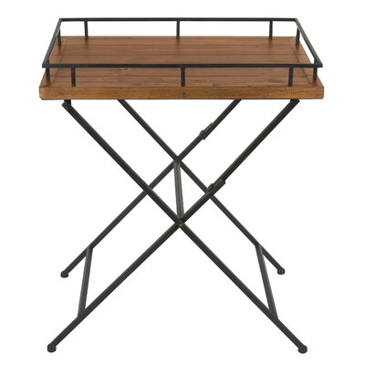 Jordan Wood and Metal Pop up Tray Table