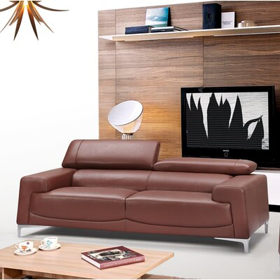 Tipton Modern Saddle Leather Sofa