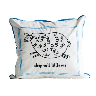 Hylan Sleep Well Little One Cotton Throw Pillow