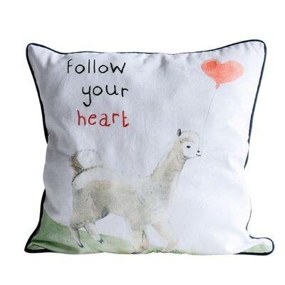 Park Row Follow Your Heart Cotton Throw Pillow