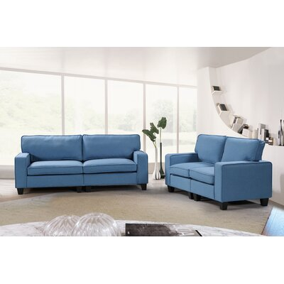 Jayapura 2 Piece Living Room Set Upholstery: Blue