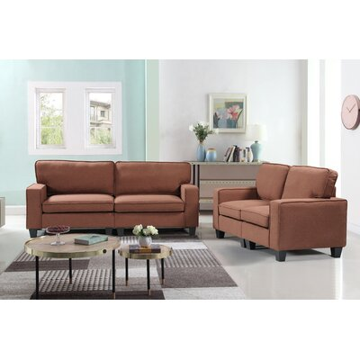 Jayapura 2 Piece Living Room Set Upholstery: Brown