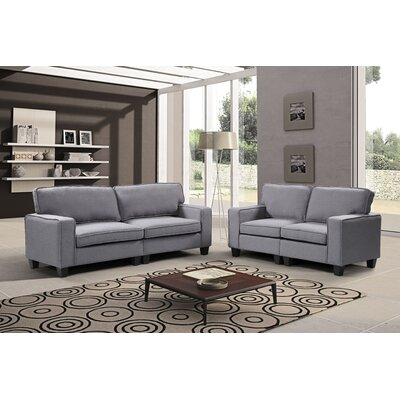 Jayapura 2 Piece Living Room Set Upholstery: Gray