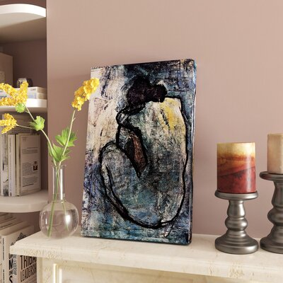 "'Blue Nude' Framed Oil Painting Print on Canvas Size: 20"" H x 13"" W CHRL6141 40958061"